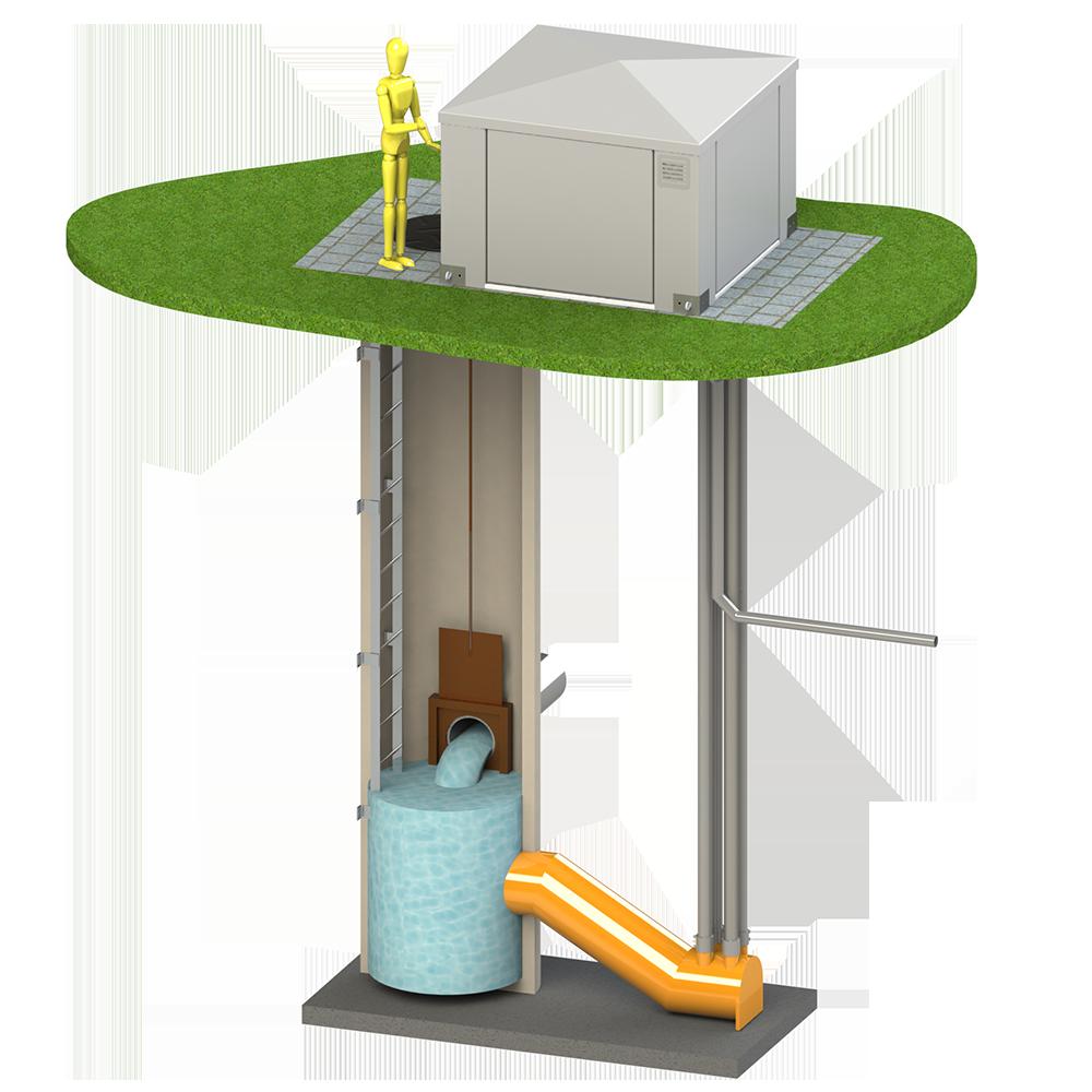 Station de pompage en ligne