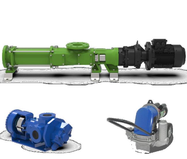 Famille pompe volumétrique eau chargées